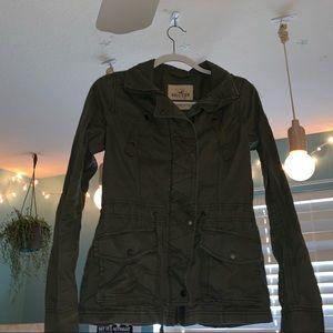 Hollister Army Green Utility Jacket